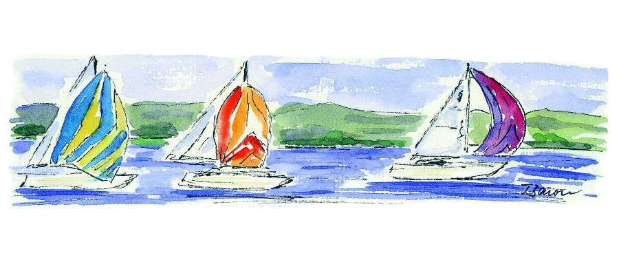 Yachtclub Insel Reichenau - Aquarell